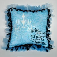 Arise and Shine Forth:  Mini Pillows with Custom-Printed Fabric Fronts
