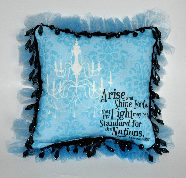 Arise and Shine Forth Pillow Fronts for YW