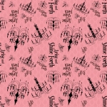 Arise and Shine Forth Chandelier Fabric-Pink Damask