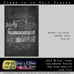 2013 Mutual Theme Logo Chalkboard Poster Now in 20x30-Inch Size!