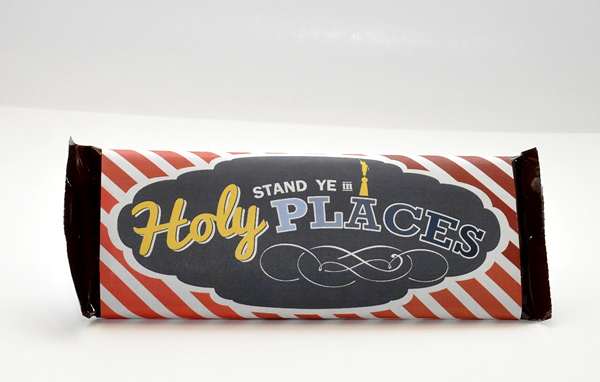 2013 Mutual Theme candy bar wrapper (1.55 oz. Hershey's) for Young Men. Free download from Hang a Ribbon on the Moon.