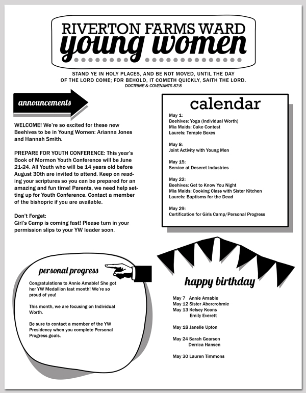 2013 yw newsletter template editable saveable pdf for Free editable newsletter templates