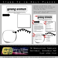 2013 YW Newsletter Template: Editable & Saveable PDF