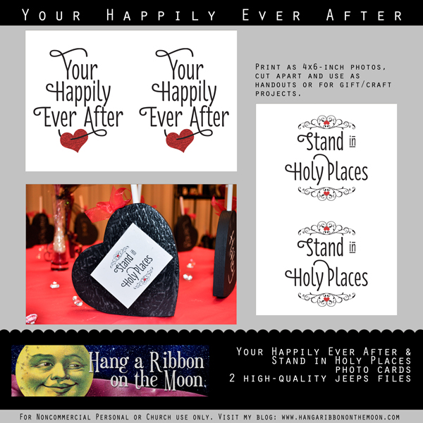 Your Happily Ever After: Free printables for Young Women in Excellence, New Beginnings or Activity Days. Inlcudes storybook invitation, logos, program cover and photo cards. From Hang a Ribbon on the Moon.