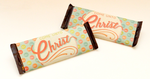 2014 Come Unto Christ Mutual Theme YW/YM Candy Bar Wrappers for 1.55-ounce Hershey's bars. Free download!