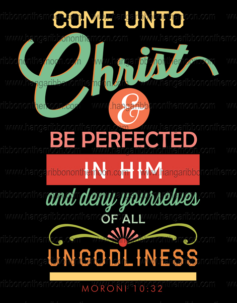 2014 Mutual Theme Come Unto Christ Posters: 8x10, 11x14, 16x20, 20x30. Four backgrounds. FREE download.