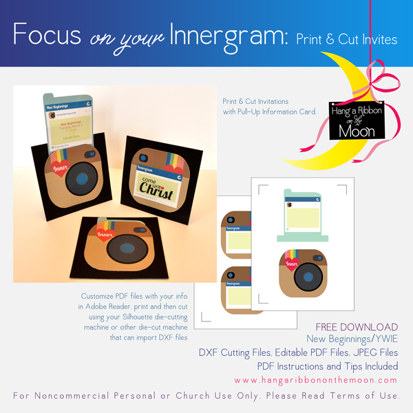 Focus on Your Innergram: Print & Cut Invites