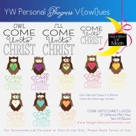 YW Personal Progress V{owl}ues Come Unto Christ Clipart