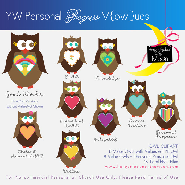 YW Personal Progress V{owl}ues Clipart: Free download!