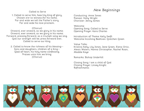 YW Personal Progress V{owl}ues Program Covers. Free download! Lots of free coordinating files!