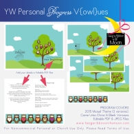 YW Personal Progress V{owl}ues Program Covers: Free download and tons of free coordinating downloads!