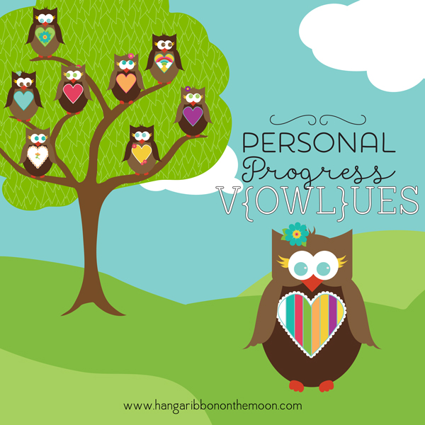 YW Personal Progress V{owl}ues Owls. Free downloads!