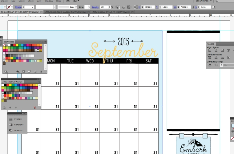 2015 Mutual Theme Calendar Preview