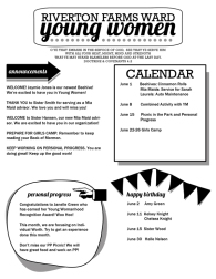 YW Newsletter Template