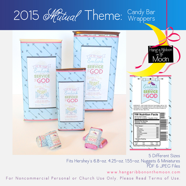 2015 Mutual Theme Candy Bar Wrappers! FIVE sizes! Free download!