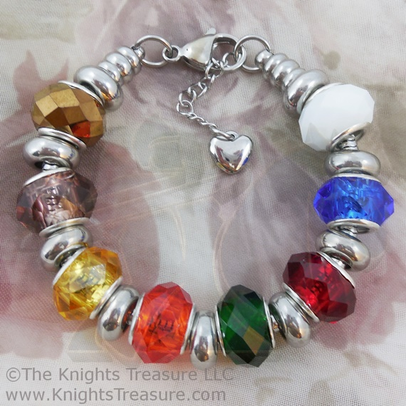 Upcoming giveaway on Hang a Ribbon on the Moon: Knight's Treasure YW Values Bracelet
