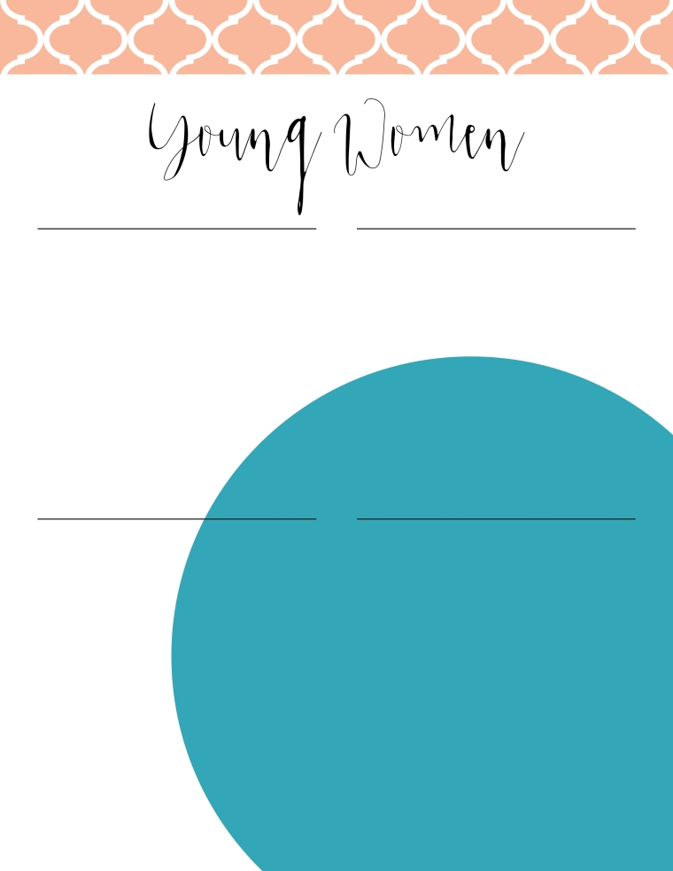 Young Women Values Now Collection: Newsletter Templates. FREE download! Editable PDF files in two versions and eight different color combos for a total of 16 files!