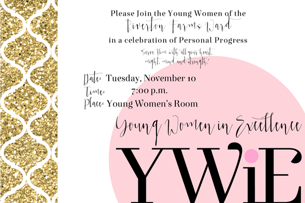 YW Values Now 4x6 Photo Invites. FREE downloads! For New Beginnings, Young Women in Excellence, Girls Camp and more!