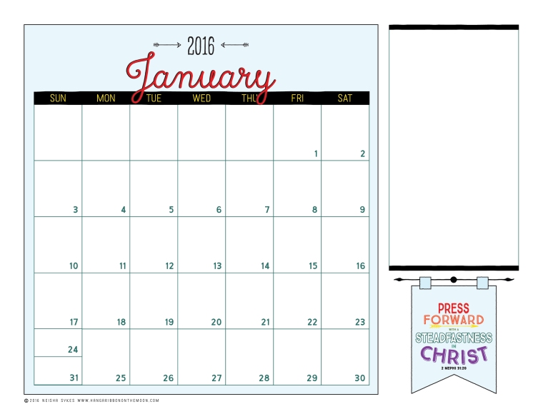 2016 Mutual Theme Editable Calendar. Free download! Editable PDF files + JPEG files.