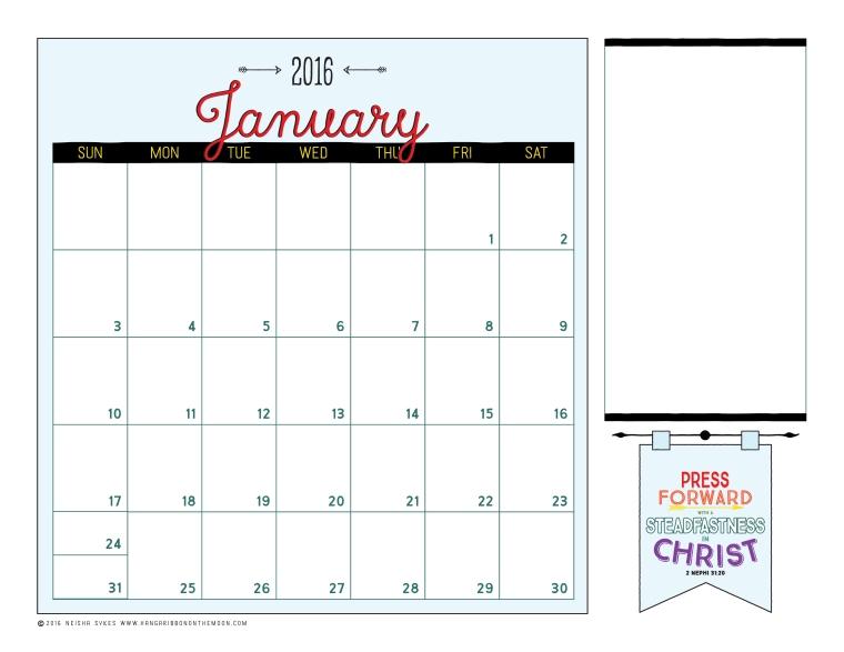 2016 Mutual Theme Editable Calendar. Free download! Editable PDF files + JPEG files.