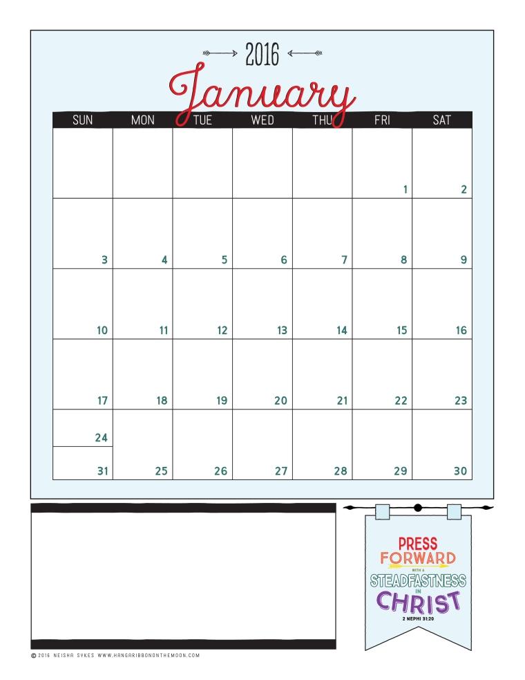 2016 Mutual Theme Calendars: Vertical Format [Editable PDFs & JPEGs]