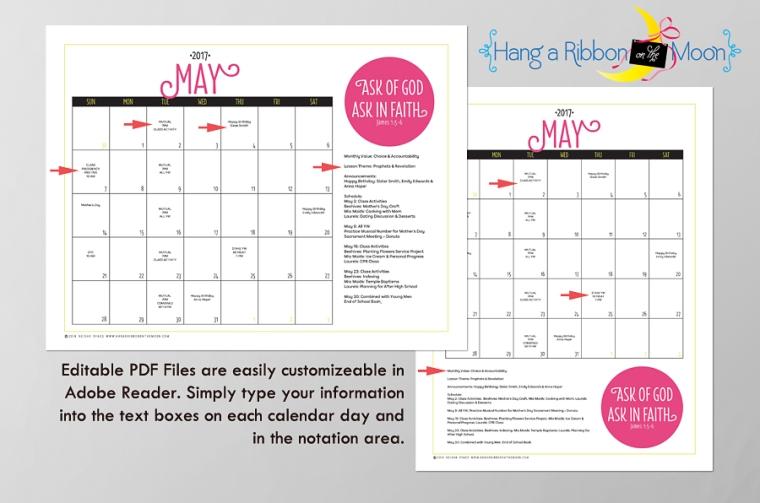 editable calendar free