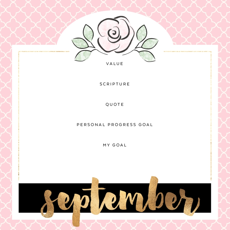 2016 LDS YW Personal Progress Calendar. Inspire your young women with this fun project. FREE download!