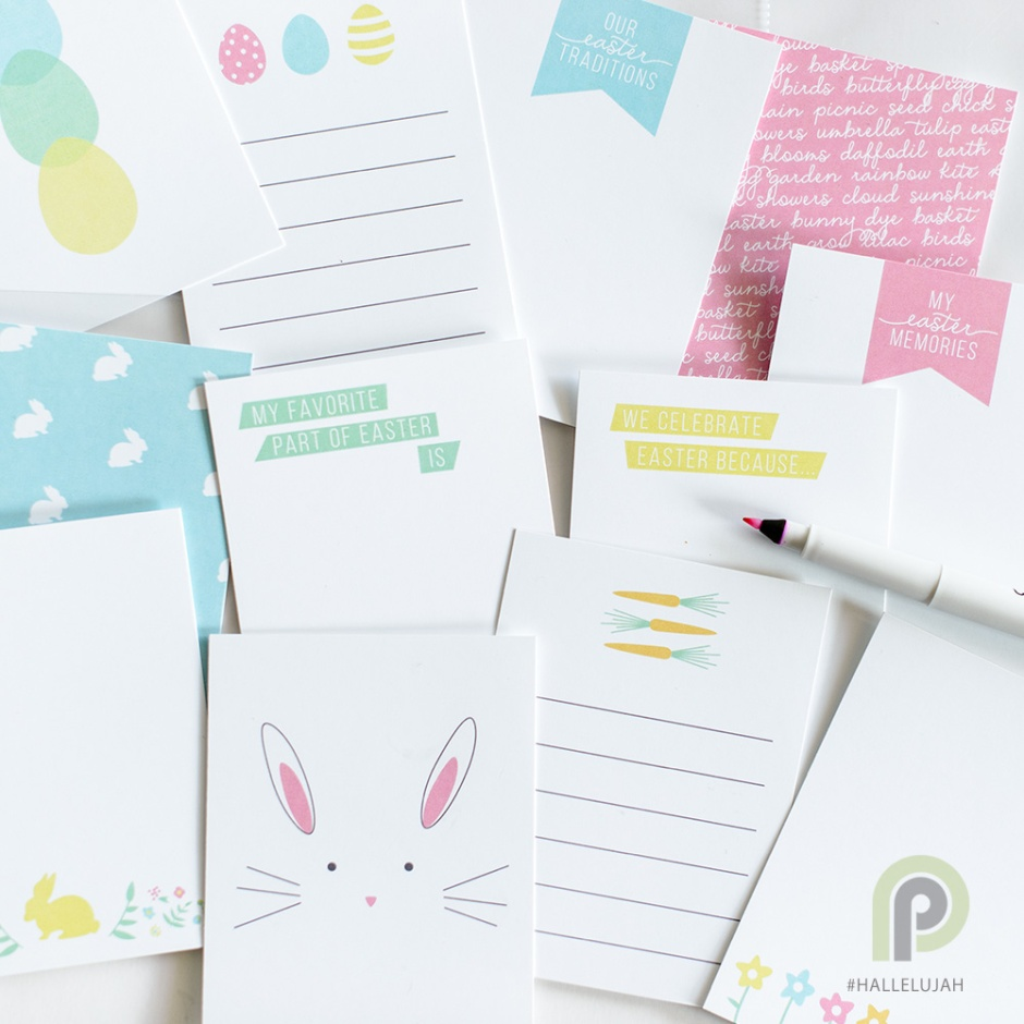 #hallelujah 3x4 Easter Cards from Persnickety Prints FREE download!
