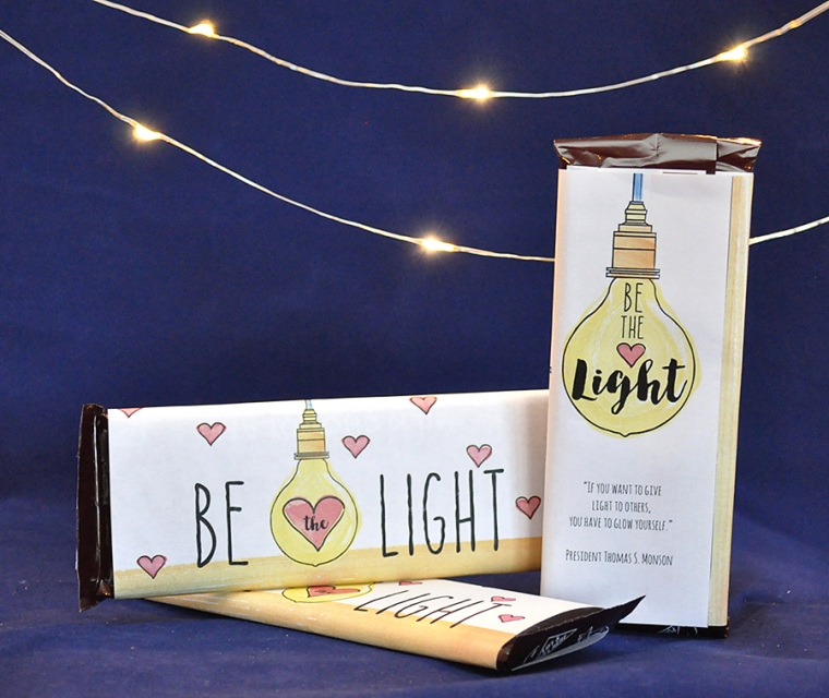 Be the Light editable candy-bar wrappers available in my YWIE Mega Pack in my Etsy Shop.