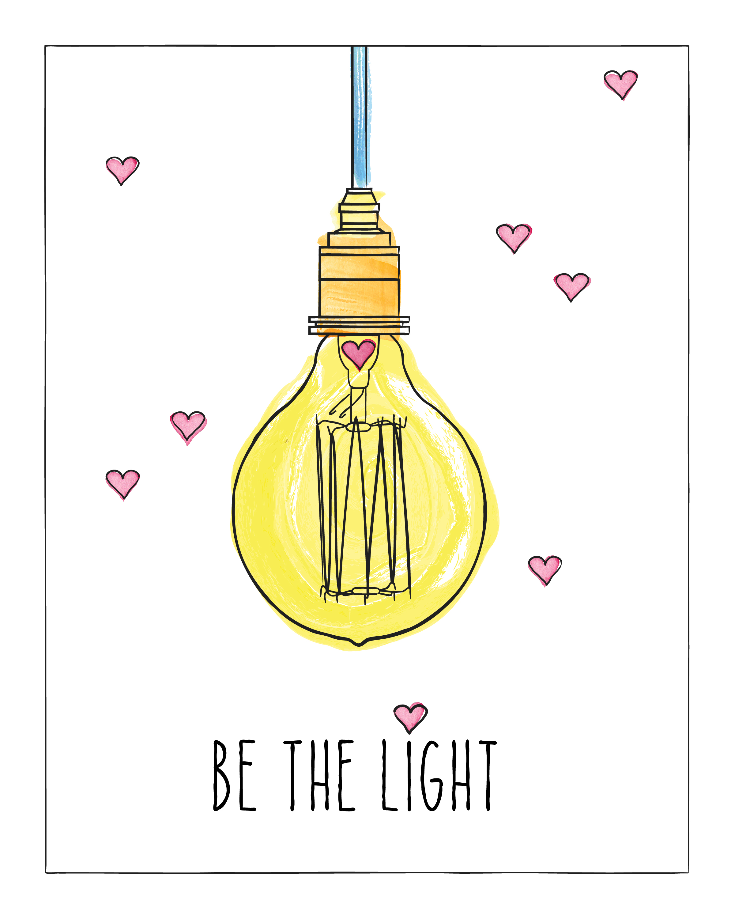 be the light poster_8x10