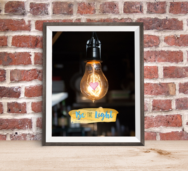 Be the Light 8x10 Photo Poster. FREE download! Great theme for YWIE!