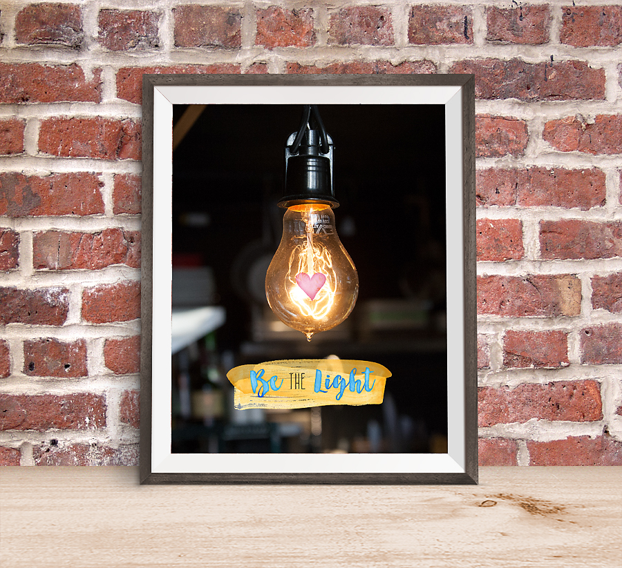 Be the Light: Young Women in Excellence + Free Photo Poster