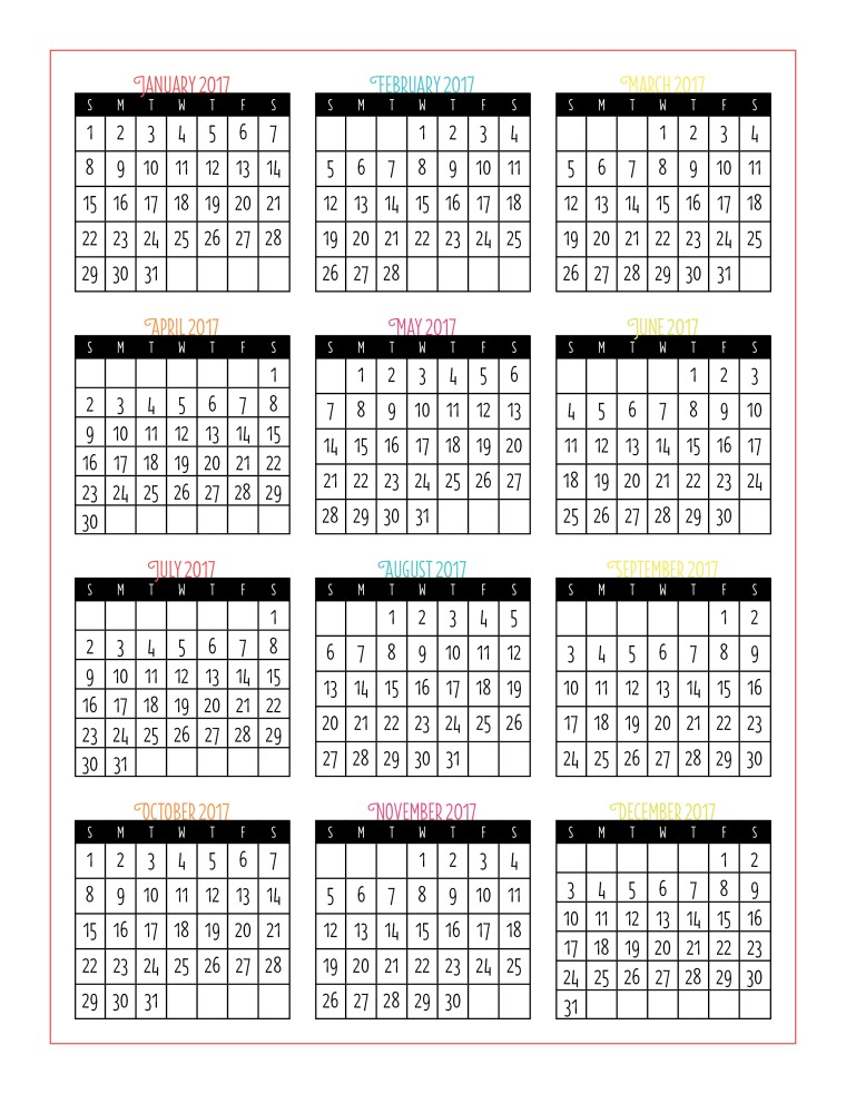 ... 2017 and 2018 calendars.Here's what the 2017 year-at-a-glance looks