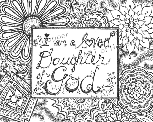 Daughter Of God Yw Coloring Page Free Download Hang A