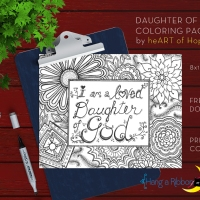 Daughter of God YW Coloring Page [Free Download]