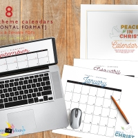 2018 Mutual Theme Calendars: Editable PDF & JPEG [Horizontal]