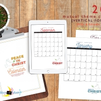 2018 Mutual Theme Calendars: Editable PDF & JPEG [Vertical]
