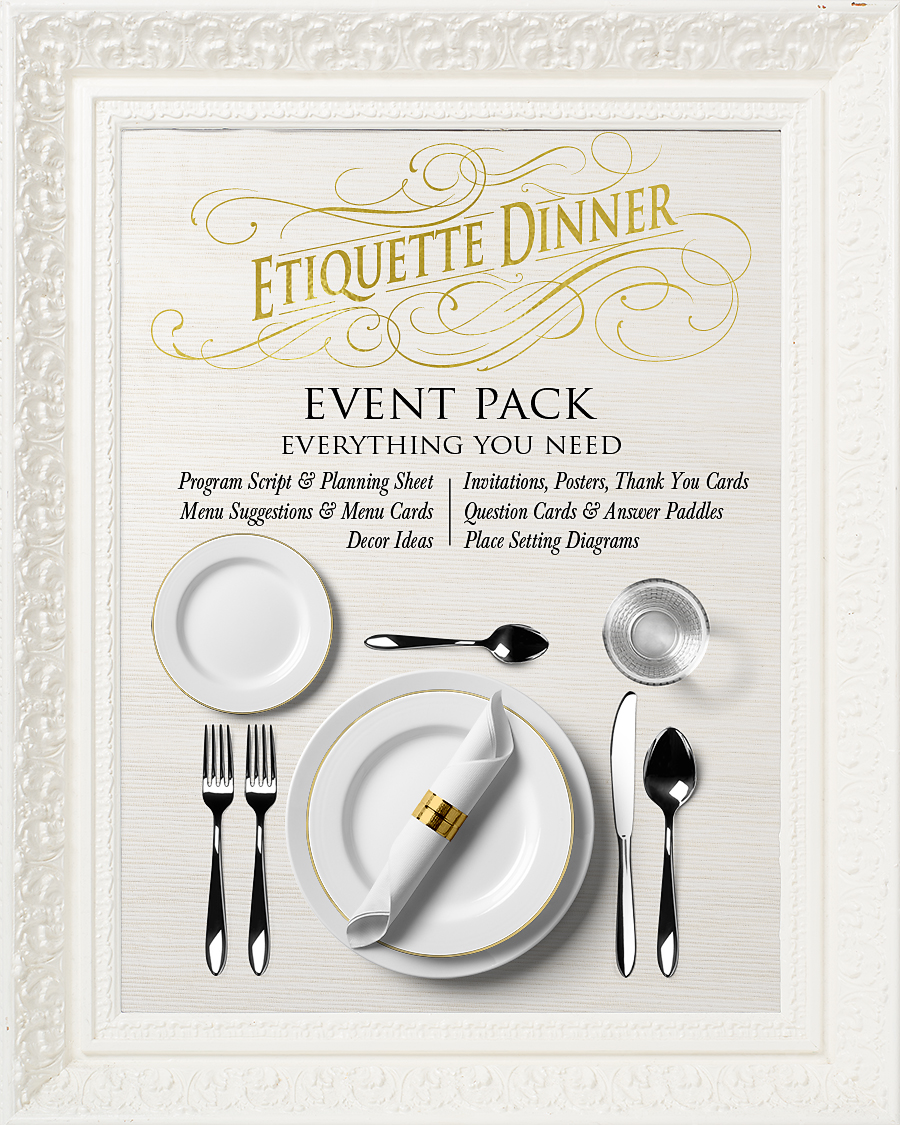 YW & YM Etiquette Dinner Event Pack + Free Download – Hang a Ribbon
