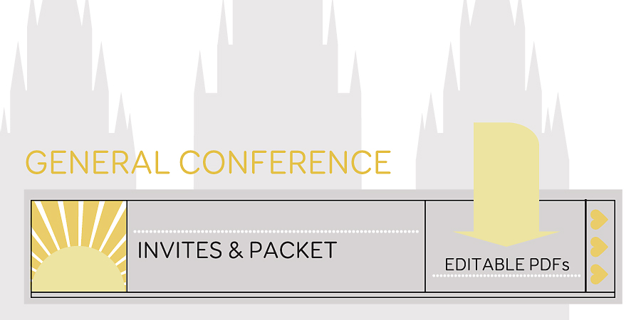 General Conference Invites Packet Free Download Hang A Ribbon