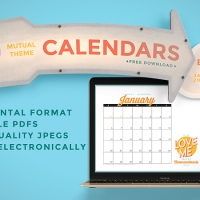 2019 Mutual Theme Calendars: Editable PDF & JPEG [Horizontal]