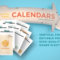 2019 Mutual Theme Calendars: Editable PDF & JPEG [Vertical]