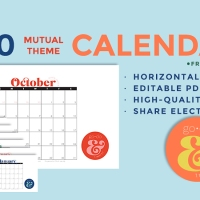 2020 Youth Theme Go & Do Calendars: Editable PDF & JPEG [Horizontal]