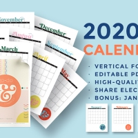 2020 Youth Theme Go & Do Calendars: Editable PDF & JPEG [Vertical] Free Download!