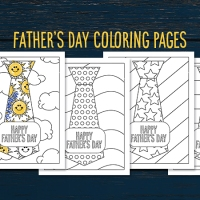 Free Download! Father's Day Coloring Pages