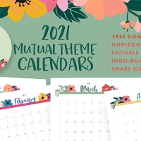 2021 Youth Theme A Great Work Calendars: Editable PDF & JPEG [Horizontal] Free Download!
