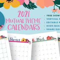 2021 Youth Theme A Great Work Calendars: Editable PDF & JPEG [Vertical] Free Download!